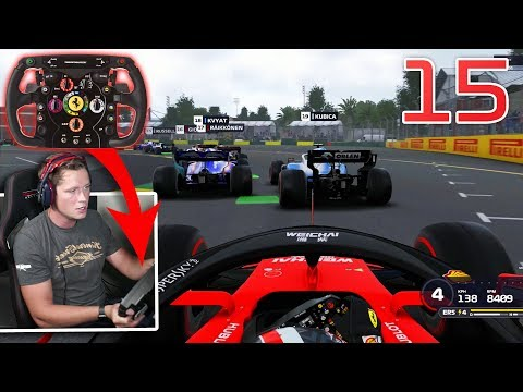 F1 2019 Career Mode - Part 15 - Trying a New F1 Sim Wheel