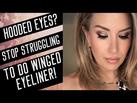 MUST SEE WINGED EYELINER TUTORIAL FOR HOODED, DROOPY EYES | Risa Does Makeup