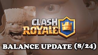 Clash Royale  Balance Update 8/24  Royal Giant Nerfed