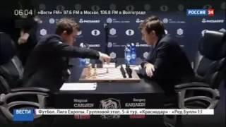 <p>В матче за звание чемпиона мира по шахматам после 10-й партии вновь наступило равновесие. <strong>Магнус Карлсен</strong> обыграл <strong>Сергея Карякина</strong> и сумел сравнять счёт. В классические шахматы соперникам осталось