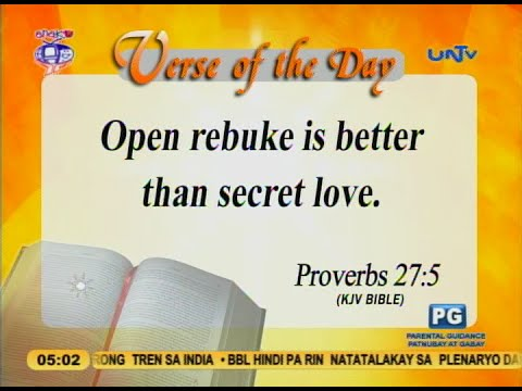 Verse of the Day: Open rebuke is better than secret love