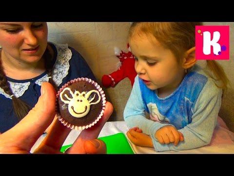 Катя с Людой готовит кексы