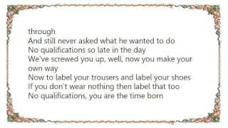 Chris Rea - No Qualifications Lyrics