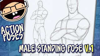 How To Draw A MALE STANDING POSE (Version 1) | Narrated Easy Step-by-Step Tutorial