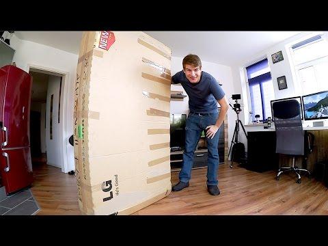 """Mein bisher größtes Unboxing: LG 65"""" 4K OLED Fernseher (curved)"""