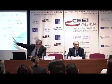 Antonio León, de IVACE, en la jornada explicativa de ayudas y subvenciones de 2020 en CEEI Valencia[;;;][;;;]