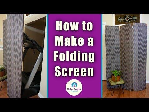 DIY 3-Panel Folding Screen Room Divider