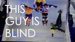 RED CRASHED ICE PRO SKATER DANNY HANSEN IS 90% BLIND AND DOES INLINE SKATING GAPS // VLOG 93