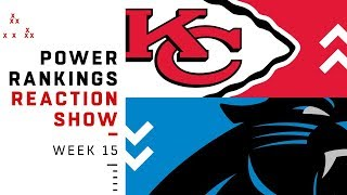 NFL Power Rankings Week 15 Reaction Show: Steelers Out of Top 10 | NFL