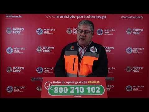 Comunicado Presidente da Câmara Municipal de Porto de Mós - COVID-19 - 29-03-2020