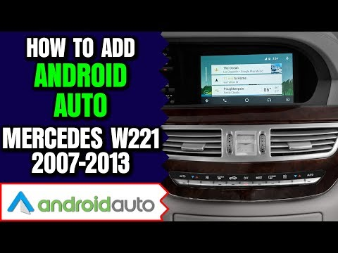 Mercedes Benz W221 S Class 2007-2013 Apple CarPlay Android Auto