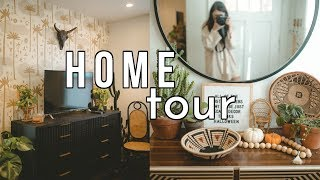 BOHO LIVING ROOM HOME TOUR || Sarah Belle