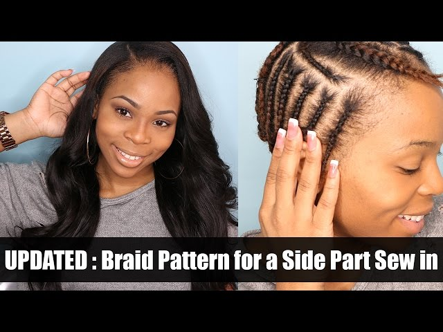Side Part Sew In Braid braiding pattern for a side part sew in# MP3 ...