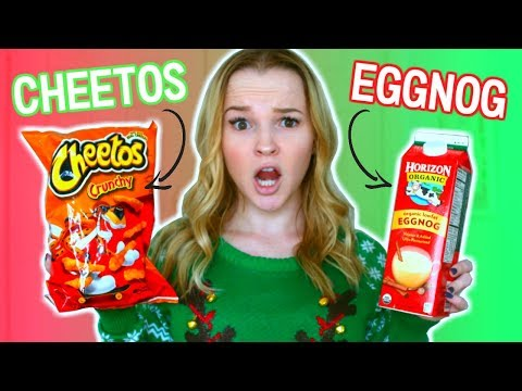 Weird Food Combinations People Love! CHRISTMAS EDITION!