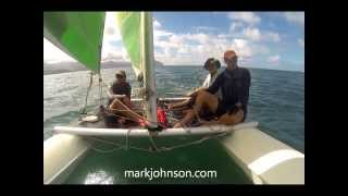 preview picture of video 'Kaneohe Bay sailing'