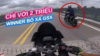 CHỈ 2 TRIỆU THÔI HONDA WINNER CHO GSX R150 HÍT KHÓI   Ride Diary 90   Vietnam motovlog