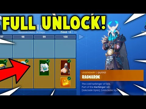 Buying All 100 Tiers Season 5 Battle Pass All Skins Unlocked
