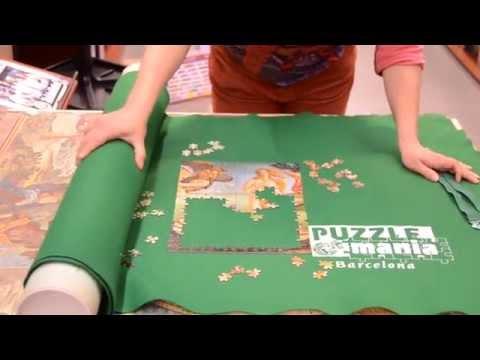 Cómo usar el puzzle roll la tela enrollable para guardar puzzles