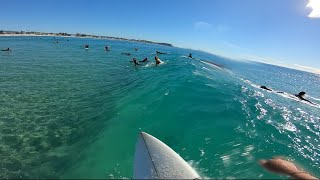 Surfing Crystal Clear Water at Currumbin Alley RAW POV