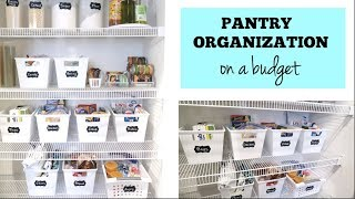 HOW TO ORGANIZE YOUR PANTRY ON A BUDGET | EASY & CHEAP PANTRY ORGANIZATION IDEAS
