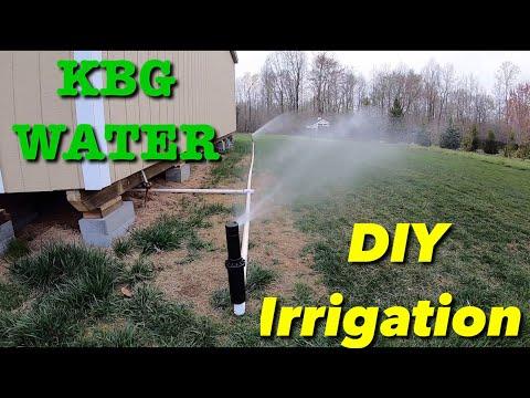 Simple irrigation setup for grass