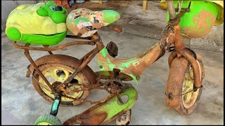 Restoration A Baby Bicycle - Broken Old Small Bicycles - Repair Mini Bikes Restore