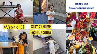 Sravana Sukravaram Special||Slokas Chanting||Stay At Home Fashion Show||Indian Dresses Fashion Show