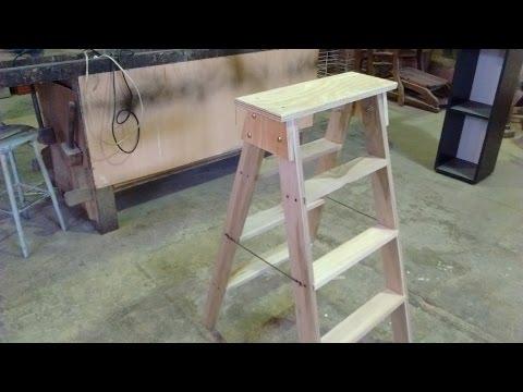 Como hacer una Escalera - . Escalera de madera