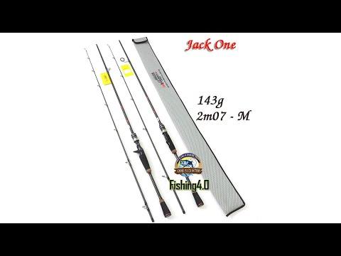 Cần câu lure Jack One - 2m07 máy đứng máy ngang - made in Thái Lan