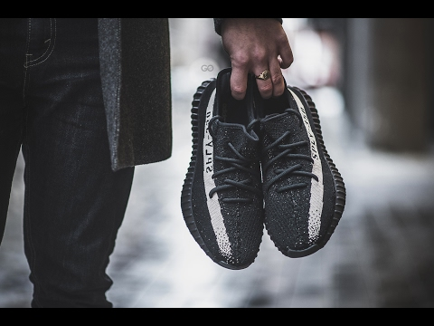 "Review & On-Feet: Adidas Yeezy Boost 350 V2 ""Black/White"""