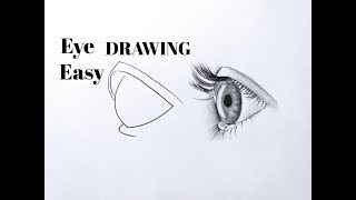 How To Draw An Eye/eyes Easy(side View) Eye Drawing Easy Step By Step Tutorial For Beginners