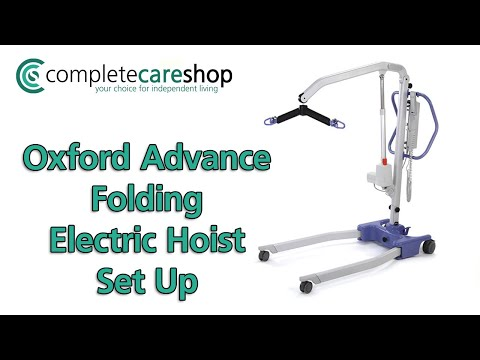 Oxford Advance Folding Electric Hoist set-up and store