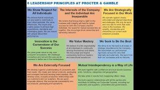 8 LEADERSHIP PRINCIPLES AT PROCTER & GAMBLE via David Taylor