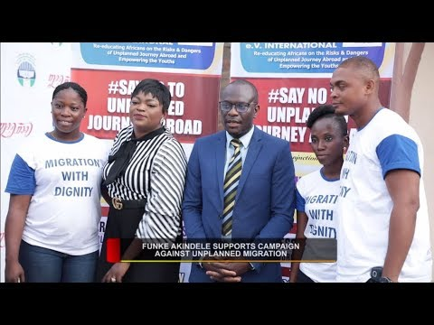 ACTRESS FUKE AKINDELE SUPPORTS CAMPAIGN AGAINST  UNPLANNED MIGRATION