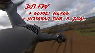 DJI FPV avec une GoPro Hero 6 Black et une Insta360 One R Dual