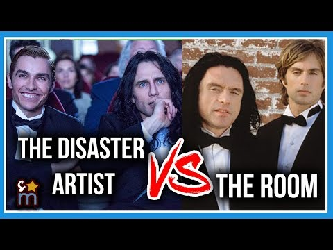 THE DISASTER ARTIST vs THE ROOM Actors - Side by Side - James Franco, Dave Franco, Zac Efron