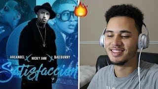 Satisfacción   Nicky Jam X Bad Bunny X Arcangel | Reacción