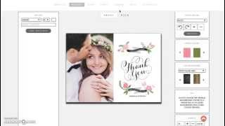 Wedding photo thank you cards made easy