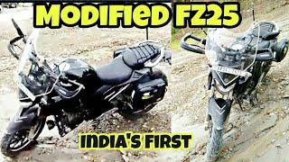 India's First Modified Yamaha FZ25 With Touring Kit By Biker Boyz