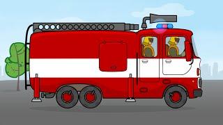Мультфильм конструктор Пожарная Машина - Большая сборка