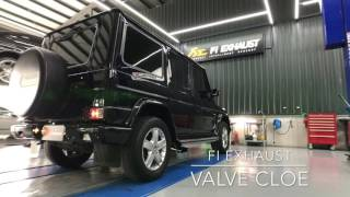 Mercedes G500 with Frequency Intelligent Valvetronic FI Exhaust