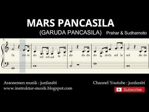 Not balok mars pancasila   lagu wajib nasional   doremi   solmisasi