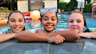 Ruby Rube & Rosie ARE IN MY SWIMMING POOL (Best Outdoor Playground)