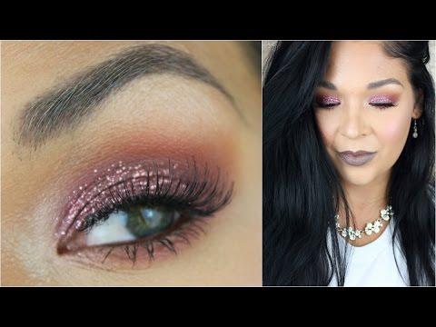 Valentines Makeup Tutorial Pink Glitter Glam
