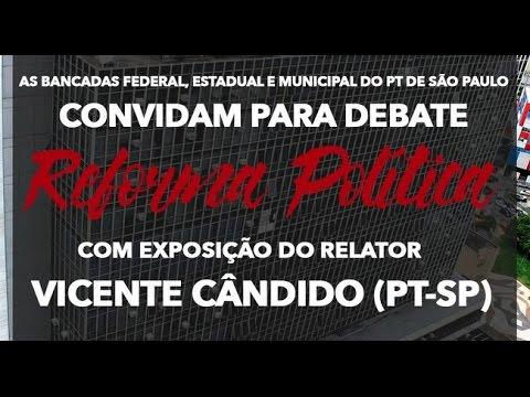 PT debate reforma política na Câmara Municipal de São Paulo