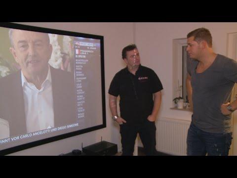 Die bessere Alternative zum großen Fernseher-vorgestellt im Wohnzimmer von unserem Kunden Hendrik
