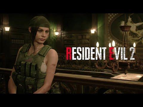 Vidéo de Claire Redfield en tenue militaire de Resident Evil 2