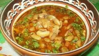 Боб-чорба (фасолевый суп) болгарская кухня
