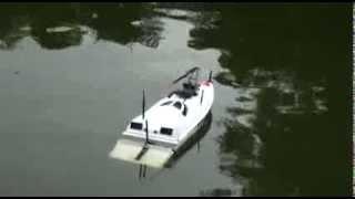 Катер радиоуправляемый рыболовный
