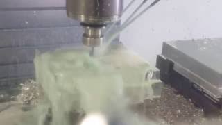 One of our parts being made on our newest CNC!